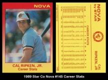 1989 Star Co Nova #145 Career Stats