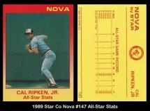 1989 Star Co Nova #147 All-Star Stats
