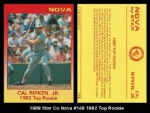 1989 Star Co Nova #148 1982 Top Rookie