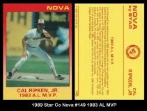 1989 Star Co Nova #149 1983 AL MVP