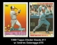 1989 Topps Sticker Backs #11 w Andres Galaragga #76