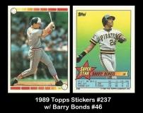 1989 Topps Stickers #237 w Barry Bonds #46
