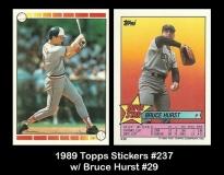 1989 Topps Stickers #237 w Bruce Hurst #29