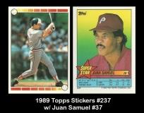 1989 Topps Stickers #237 w Juan Samuel