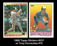 1989 Topps Stickers #237 w Tony Fernandez #10