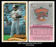1989 Topps Baseball Talk LJN #77