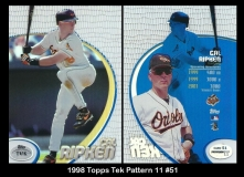 1998 Topps Tek Pattern 11 #51