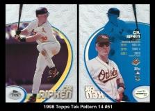 1998 Topps Tek Pattern 14 #51