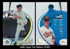 1998 Topps Tek Pattern 16 #51