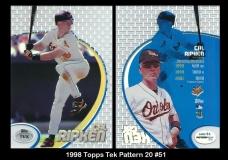 1998 Topps Tek Pattern 20 #51