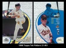 1998 Topps Tek Pattern 21 #51