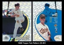 1998 Topps Tek Pattern 25 #51