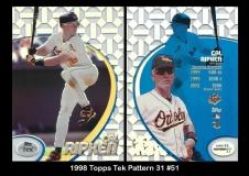 1998 Topps Tek Pattern 31 #51