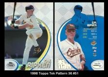 1998 Topps Tek Pattern 36 #51