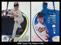 1998 Topps Tek Pattern 4 #51