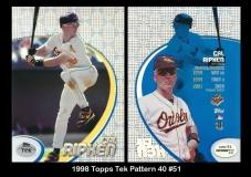 1998 Topps Tek Pattern 40 #51