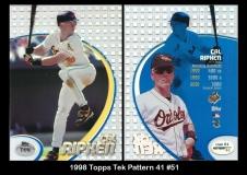 1998 Topps Tek Pattern 41 #51