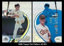 1998 Topps Tek Pattern 43 #51