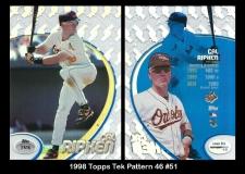 1998 Topps Tek Pattern 46 #51