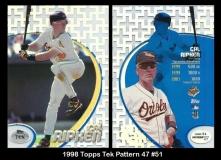 1998 Topps Tek Pattern 47 #51