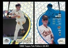 1998 Topps Tek Pattern 58 #51