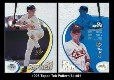 1998 Topps Tek Pattern 64 #51