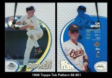 1998 Topps Tek Pattern 66 #51