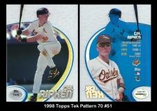1998 Topps Tek Pattern 70 #51