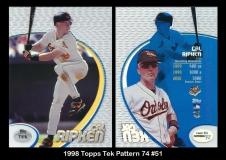 1998 Topps Tek Pattern 74 #51