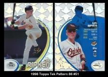 1998 Topps Tek Pattern 86 #51