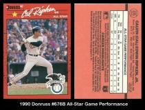 1990 Donruss #676B All-Star Game Performance