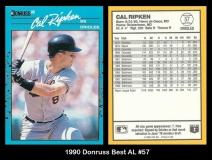 1990 Donruss Best AL #57