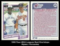 1990 Fleer #634 Leagues Best Shortstops