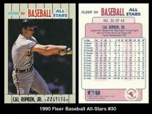 1990 Fleer Baseball All-Stars #30