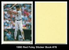 1990 Red Foley Sticker Book #78