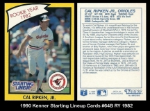 1990 Kenner Starting Lineup Cards #64B RY 1982
