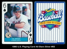 1990 US Playing Card All-Stars Silver #6S