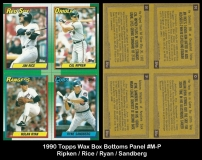 1990 Topps Wax Box Bottoms Panel #M-P