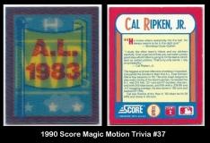 1990 Score Magic Motion Trivia #37
