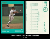 1990 Star Co Gold #75 All-Star Stats
