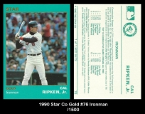1990 Star Co Gold #76 Ironman