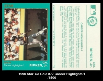 1990 Star Co Gold #77 Career Highlights 1