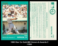 1990 Star Co Gold #80 Honors & Awards 2