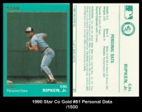1990 Star Co Gold #81 Personal Data