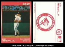 1990 Star Co Glossy #11 Baltimore Orioles