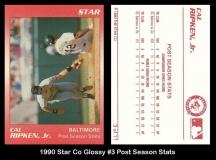 1990 Star Co Glossy #3 Post Season Stats