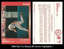 1990 Star Co Glossy #6 Career Highlights 1