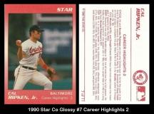 1990 Star Co Glossy #7 Career Hightlights 2