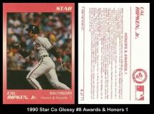 1990 Star Co Glossy #8 Awards & Honors 1