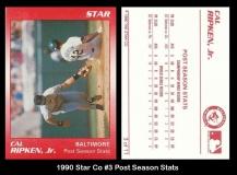 1990 Star Co #3 Post Season Stats